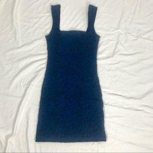 Free People Navy Blue Stretch Body Con Mini Dress